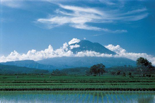 Le Mont Agung est la montagne sacrée des Balinais. (Crédit photo : www.selamatpagibali.com )