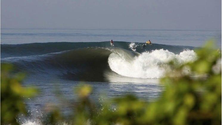 Les vagues imposantes qu'offre la baie sont parfaites pour une pratique énergique du surf ! (Crédit photo : www.luex.com)