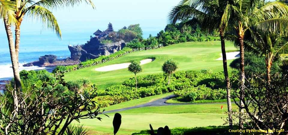 Le parcours de golf du Nirwana Golf Club, à Bali, jouit d'un cadre absolument exceptionnel. (Crédit photo : www.vivagolfer.com)