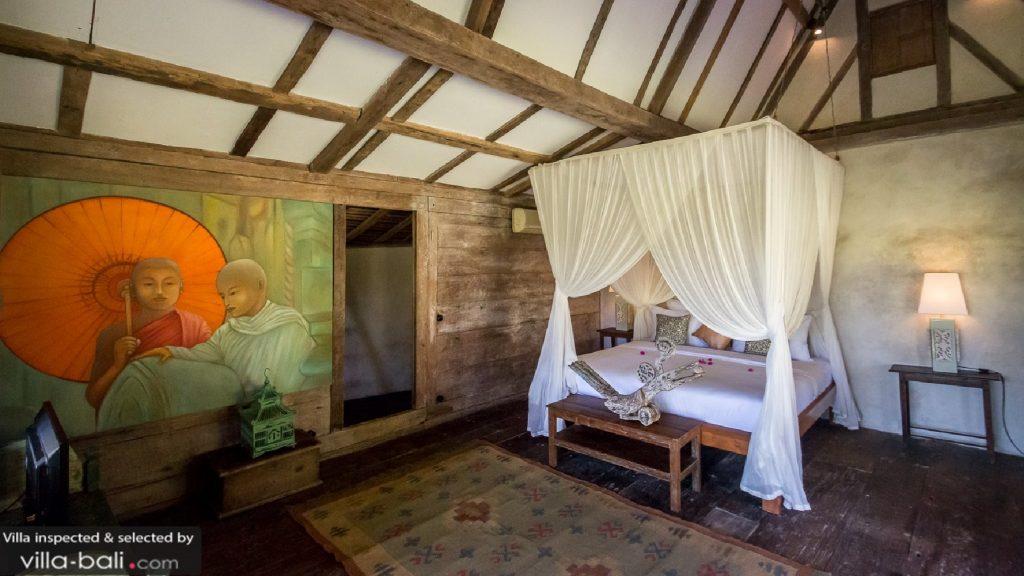 La villa Galante et son ameublement provenant des quatre coins de l'Asie promet un séjour 100% traditionnel. (CRédit photo : villa-bali.com)